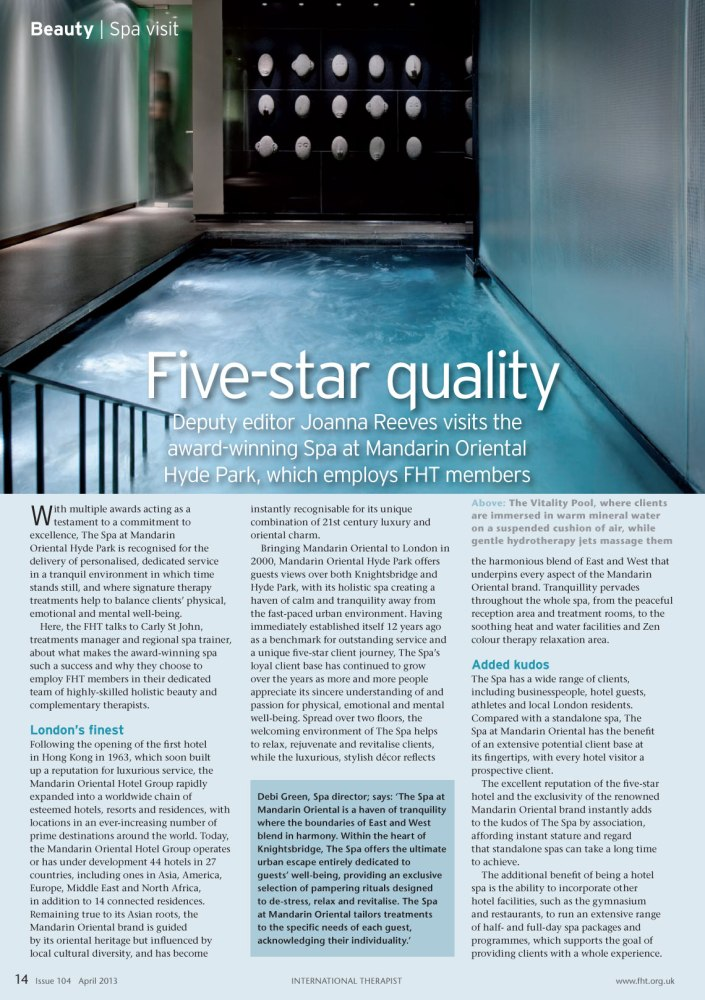 Five star quality | International Therapist